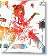 Eddie Van Halen Paint Splatter Metal Print