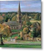 Edensor - Chatsworth Park - Derbyshire Metal Print