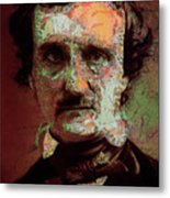 Edgar Allan Poe Artsy 2 Metal Print