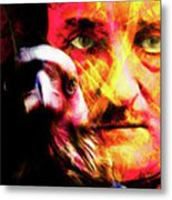 Edgar Allan Poe The Eyes Of The Ravens 20160430 V3 Square Metal Print