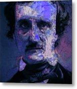 Edgar Allan Poe, Artsy 1 Metal Print
