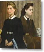 Edgar Degas - The Bellelli Sisters Giovanna And Giuliana Bellelli Metal Print