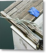 Edgartown Fishing Boat Metal Print