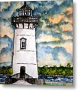 Edgartown Lighthouse Martha's Vineyard Mass Metal Print
