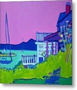 Edgartown Porches Metal Print