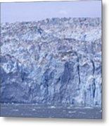 Edge Of A Huge Glacier In Alaska Metal Print