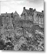 Edinburgh Castle Bw Metal Print