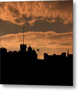 Edinburgh Castle Silhouette  Metal Print