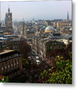 Edinburgh Princess Street Metal Print