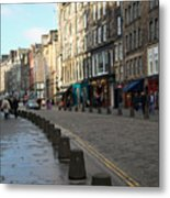 Edinburgh Royal Mile Street Metal Print