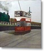 Edinburgh Tram With Goods Train Metal Print