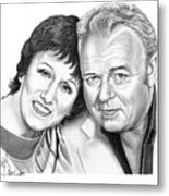 Edith And Archie Bunker Metal Print by Murphy Elliott