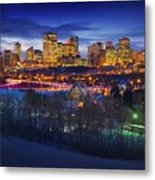 Edmonton Winter Skyline Metal Print