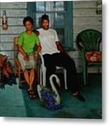 Edna And Sammy Of Johnston County Metal Print