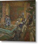 Edouard Vuillard  Sewing Party At Loctudy Metal Print