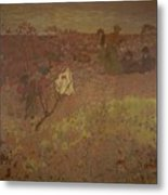 Edouard Vuillard - Walking In The Vineyard Metal Print