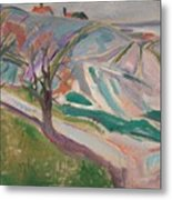 Edvard Munch , Landscape, Kragero Metal Print
