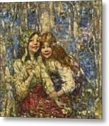 Edward Atkinson Hornel 1864-1933 The Bluebell Wood Metal Print