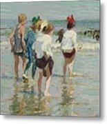 Edward Henry Potthast 1857 - 1927 Summer Day, Brighton Beach Metal Print
