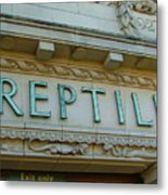 Edwardian Reptile House  Metal Print