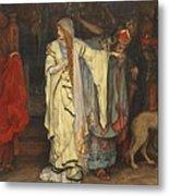 Edwin Austin Abbey 1852-1911 King Lear, Cordelias Farewell Metal Print