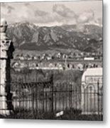 Eerie Cemetery Metal Print