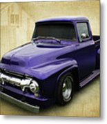 Ef In Purple Metal Print