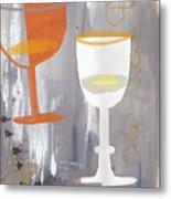 Efervescent Champagne Cups Metal Print