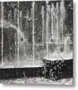 Effervescence Fountain In Milano Italy Metal Print