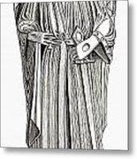Effigy Of King John On His Tomb In Metal Print
