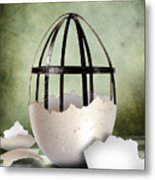 An Egg Metal Print