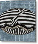 Egg Blimp In The Hanger Metal Print
