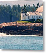 Egg Rock Lighthouse Metal Print by Steven Scott