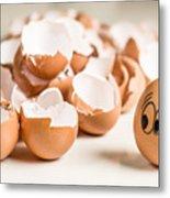 Eggs Have Feelings Too Metal Print