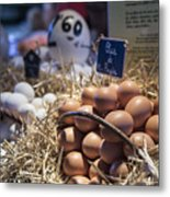 Eggsactly What You Are Looking For - La Bouqueria - Barcelona Spain Metal Print