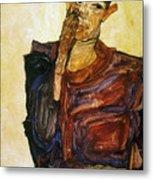 Egon Schiele (1890-1918) Metal Print