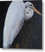 Egrets Series Three Metal Print