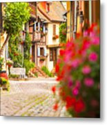 Half-timbered House, Eguisheim, Alsace, France  Metal Print