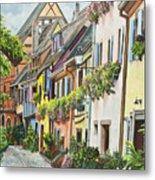 Eguisheim In Bloom Metal Print