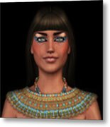 Egyian Princess Portrait Metal Print