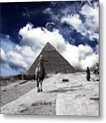 Egypt - Clouds Over Pyramid Metal Print