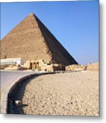 Egypt - Way To Pyramid Metal Print