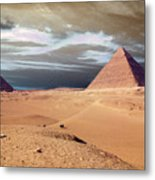 Egypt Eyes Metal Print