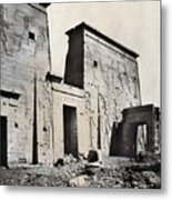Egypt: Temple Of Isis Metal Print by Granger
