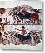 Egypt: Tomb Painting Metal Print