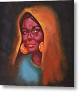 Egyptian Beauty Metal Print