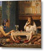 Egyptian Chess Players Metal Print by Sir Lawrence Alma-Tadema