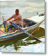 Egyptian Fisherman Metal Print