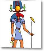 Egyptian God - Khensu Metal Print