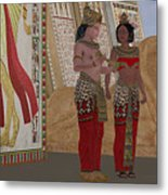 Egyptian King And Queen Metal Print